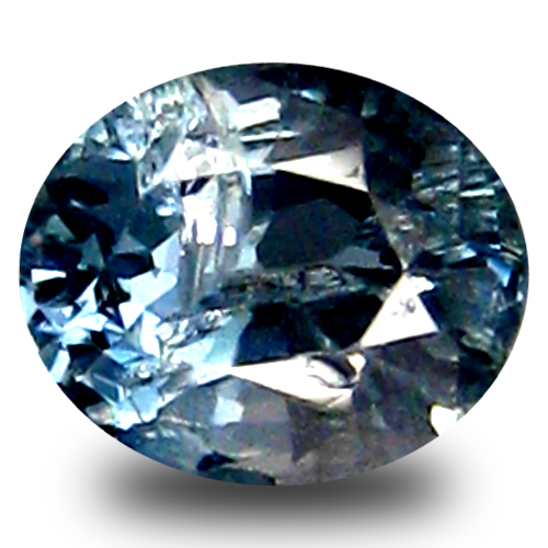 0 46 ct great looking oval cut 5 x 4 mm blue spinel
