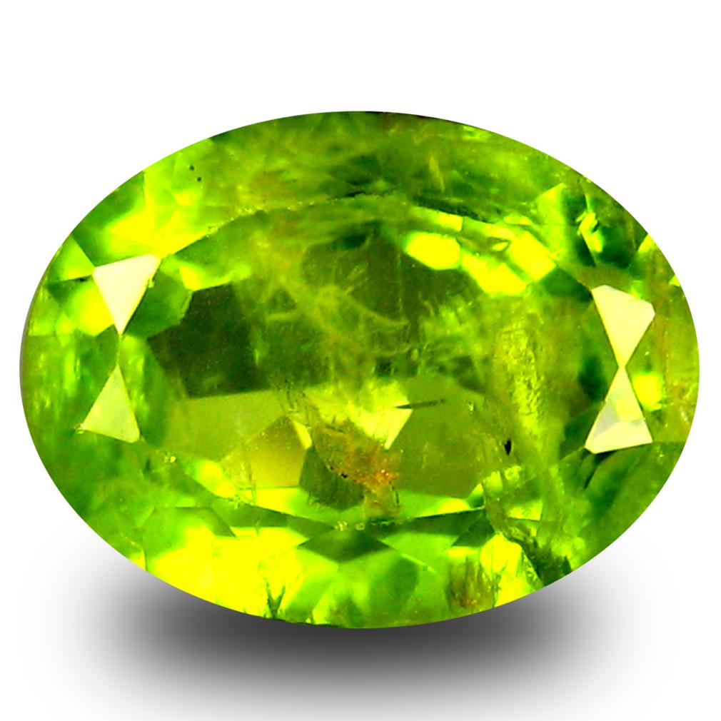 3 73 ct oval cut 11 x 9 mm green peridot
