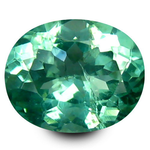 0.92 ct Eye-catching Oval Cut (7 x 6 mm) 100% Natural Paraiba Blue Color Apatite Gemstone