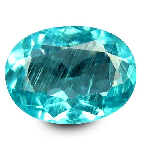 0.59 ct Marvelous Oval Cut (6 x 5 mm) 100% Natural Paraiba Blue Color Apatite Gemstone