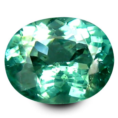 0.78 ct Superior Oval Cut (7 x 5 mm) 100% Natural Paraiba Blue Color Apatite Gemstone