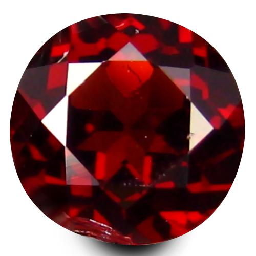 0.55 ct First-class Round Cut (5 x 5 mm) Un-Heated Natural Rhodolite Garnet Loose Gemstone