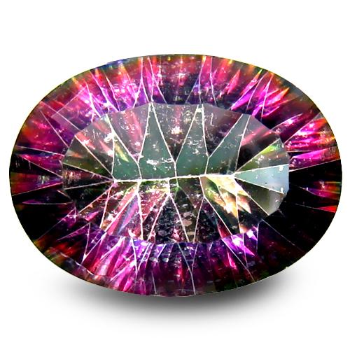 11.23 ct Superior Oval Cut (18 x 13 mm) Multi Color Quartz Loose Stone