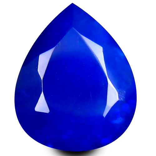 0.95 ct Remarkable VVS Clarity Pear Cut (9 x 7 mm) Violetish Blue Opal Natural Loose Gemstone