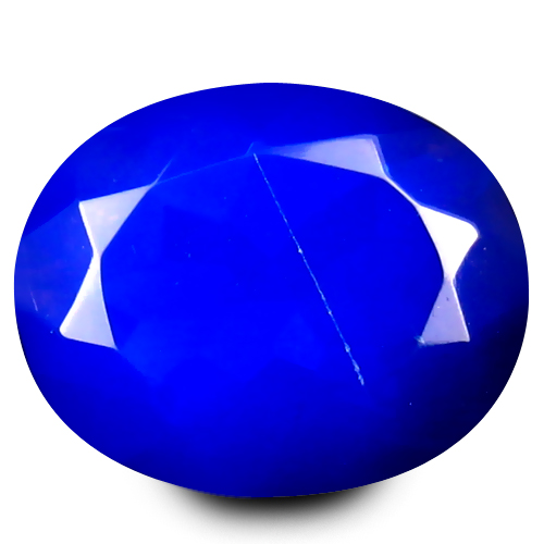 1.55 ct Magnificent VVS Clarity Oval Cut (10 x 8 mm) Violetish Blue Opal Natural Loose Gemstone