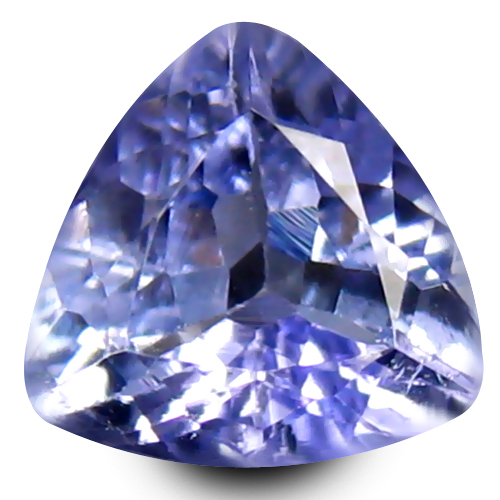 0.66 ct AAA Remarkable Trillion Shape (6 x 6 mm) Bluish Violet Tanzanite Natural Gemstone