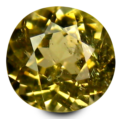 0.12 ct Significant 3 mm Round Shape Un-Heated Yellow Tanzanite Natural Gemstone