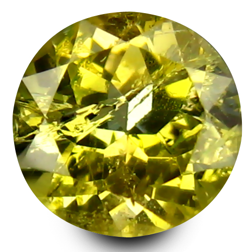0.64 ct Superior 5 mm Round Shape Un-Heated Yellow Tanzanite Natural Gemstone