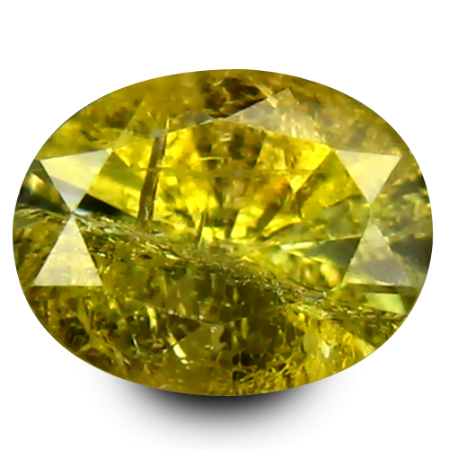 0.53 ct Lovely 6 mm Oval Shape Un-Heated Yellow Tanzanite Natural Gemstone