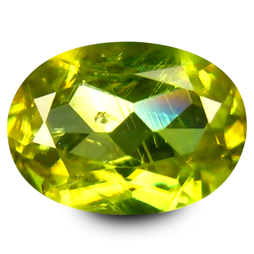 0.64 ct Great looking Oval Cut (6 x 5 mm) Green Un-Heated Sphene Natural Gemstone
