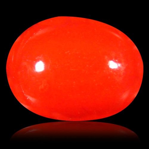 0.94 ct Gorgeous VVS Clarity Oval Cabochon Cut (9 x 7 mm) Red Opal Natural Loose Gemstone