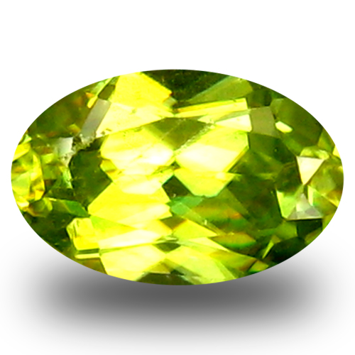 0.79 ct Remarkable Oval Cut (7 x 5 mm) Green Un-Heated Sphene Natural Gemstone