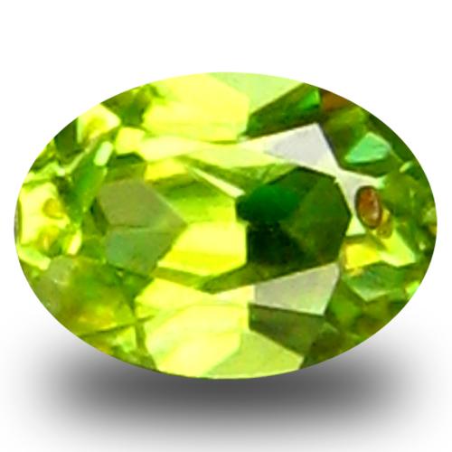 0.28 ct AAA Eye-popping Oval Shape (5 x 3 mm) Green Sphene Natural Gemstone
