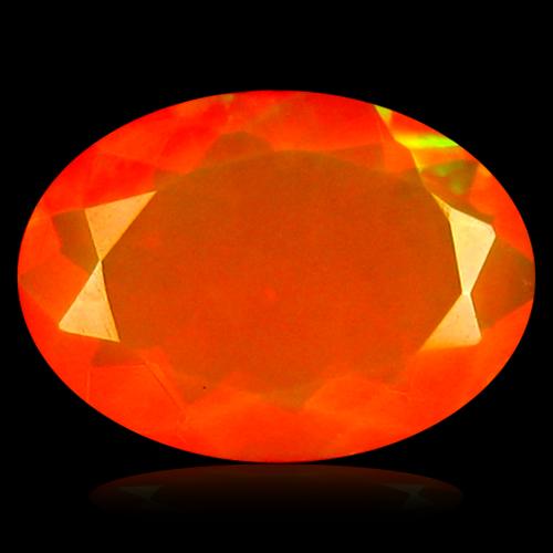 1.05 ct Remarkable VVS Clarity Oval Cut (10 x 7 mm) Orange Opal Natural Loose Gemstone
