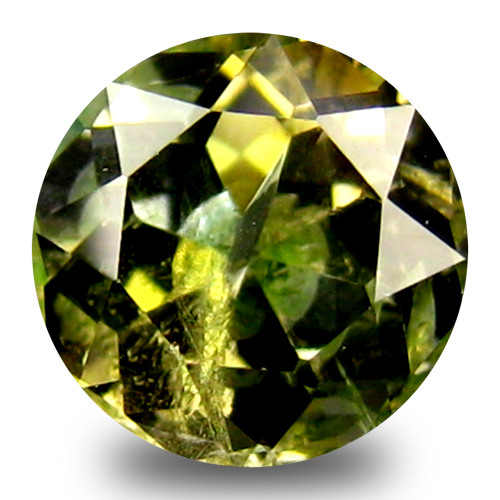 0.51 ct World class 5 mm Round Shape Un-Heated Yellow Tanzanite Natural Gemstone