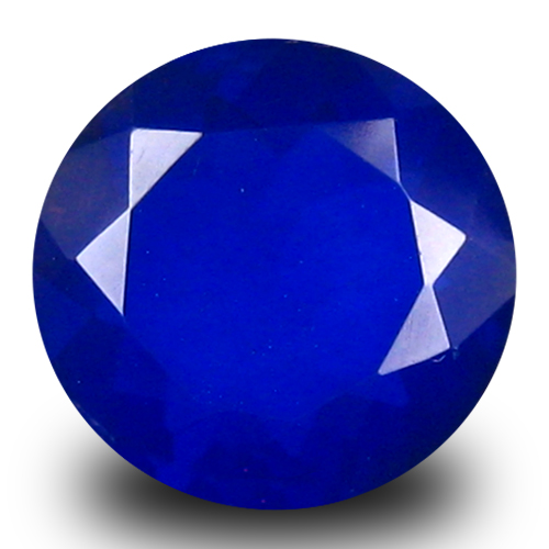 1.38 ct Resplendent VVS Clarity Round Cut (9 x 9 mm) Violetish Blue Opal Natural Loose Gemstone
