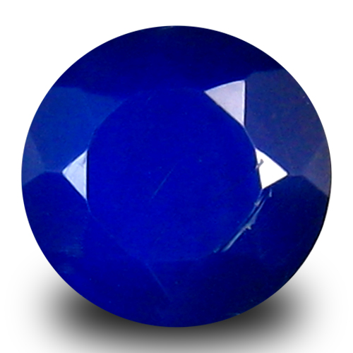 0.81 ct Impressive VVS Clarity Round Cut (7 x 7 mm) Violetish Blue Opal Natural Loose Gemstone