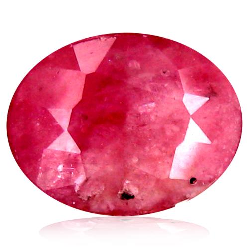 2.56 ct  Phenomenal Oval Shape (9 x 7 mm) Reddish Orange Sapphire Natural Gemstone