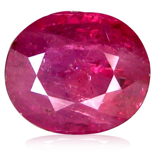 1.99 ct  Unbelievable Oval Shape (8 x 7 mm) Reddish Orange Sapphire Natural Gemstone