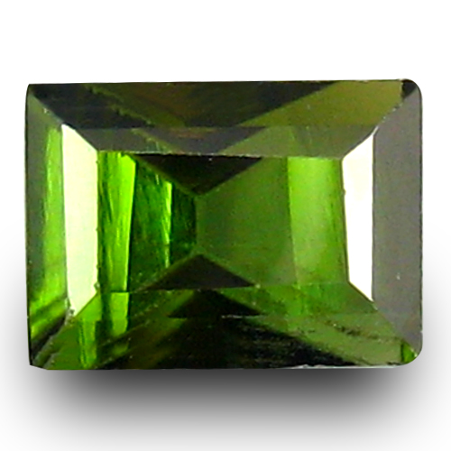 1.26 ct Topnotch Octagon Cut (7 x 5 mm) 100% Natural Green Color Tourmaline Gemstone