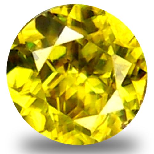 0.33 ct  Dazzling Round Shape (4 x 4 mm) Green Yellow Sphene Natural Gemstone