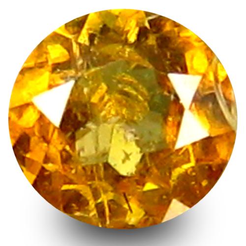 0.34 ct  Good-looking Round Shape (4 x 4 mm) Green Yellow Sphene Natural Gemstone