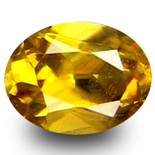 0.36 ct  Fantastic Oval Shape (5 x 4 mm) Green Yellow Sphene Natural Gemstone