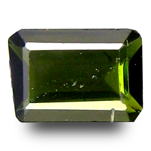 0.60 ct Valuable Octagon Cut (6 x 4 mm) 100% Natural Green Color Tourmaline Gemstone