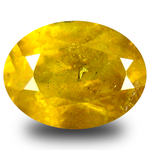 1.43 ct Eye-catching Oval Cut (8 x 6 mm) Green Yellow Un-Heated Sphene Natural Gemstone