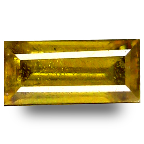 0.61 ct Grand looking Octagon Cut (7 x 3 mm) Green Yellow Un-Heated Sphene Natural Gemstone