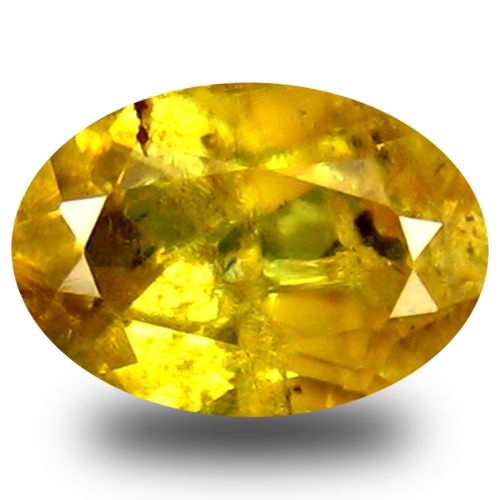 1.19 ct Charming Oval Cut (8 x 6 mm) Green Yellow Un-Heated Sphene Natural Gemstone