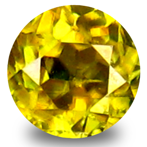 0.33 ct Pleasant Round Cut (4 x 4 mm) Green Yellow Un-Heated Sphene Natural Gemstone
