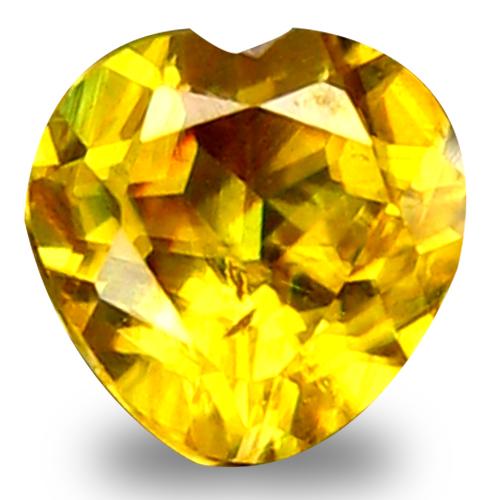 0.61 ct World class Heart Cut (5 x 5 mm) Green Yellow Un-Heated Sphene Natural Gemstone