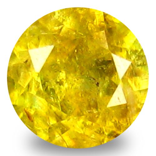 0.53 ct Fabulous Round Cut (5 x 5 mm) Green Yellow Un-Heated Sphene Natural Gemstone