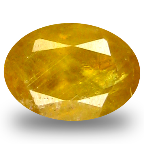 0.73 ct AAA Magnificent fire Oval Shape (6 x 5 mm) Green Yellow Sphene Natural Gemstone