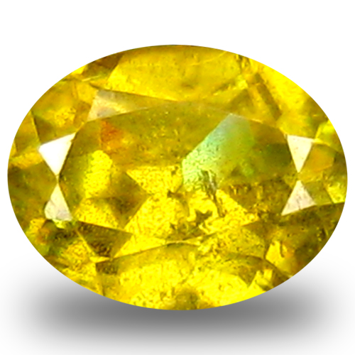 0.61 ct AAA Romantic Oval Shape (6 x 5 mm) Green Yellow Sphene Natural Gemstone