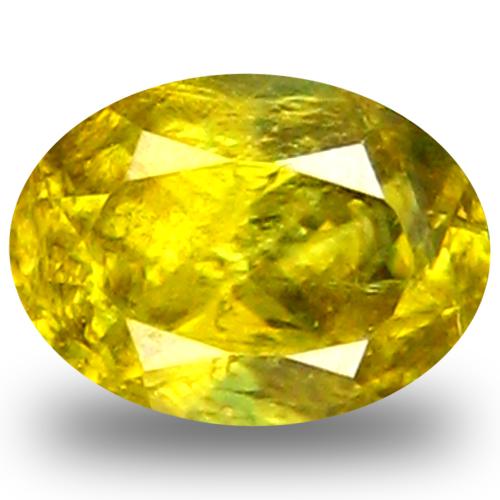 0.65 ct AAA Premium Oval Shape (6 x 4 mm) Green Yellow Sphene Natural Gemstone