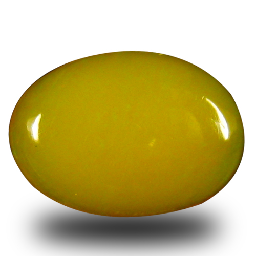 1.22 ct Eye-popping VVS Clarity Oval Cabochon Cut (10 x 8 mm) Orange Yellow Opal Natural Loose Gemstone