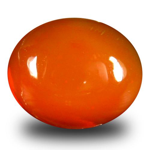 1.90 ct Excellent VVS Clarity Oval Cabochon Cut (10 x 8 mm) Orange Opal Natural Loose Gemstone