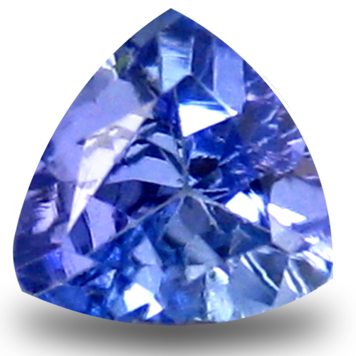 0.41 ct AAA Extraordinary Trillion Shape (5 x 5 mm) Bluish Violet Tanzanite Natural Gemstone
