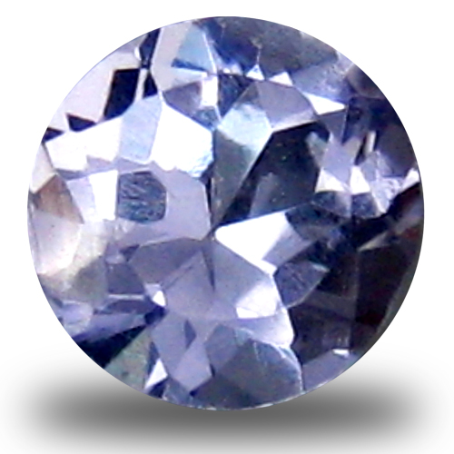 0.45 ct AAA Superior Round Shape (5 x 5 mm) Bluish Violet Tanzanite Natural Gemstone