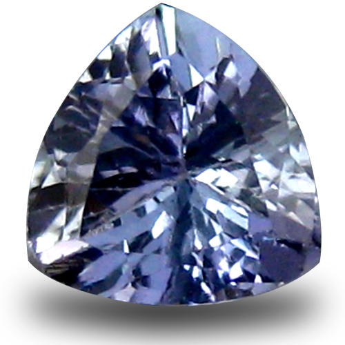 0.68 ct AAA Five-star Trillion Shape (6 x 6 mm) Bluish Violet Tanzanite Natural Gemstone