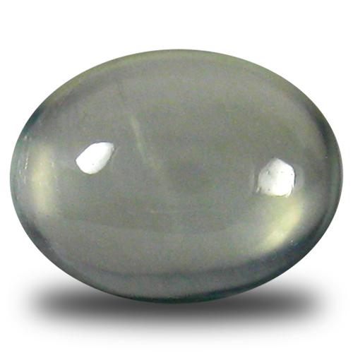 3.00 ct Good-looking Oval Cabochon Cut (10 x 8 mm) Un-Heated Green Prehnite Natural Gemstone