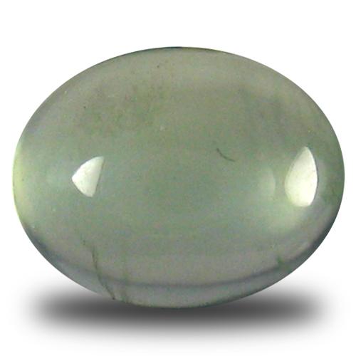 2.34 ct Flashing Oval Cabochon Cut (9 x 7 mm) Un-Heated Green Prehnite Natural Gemstone