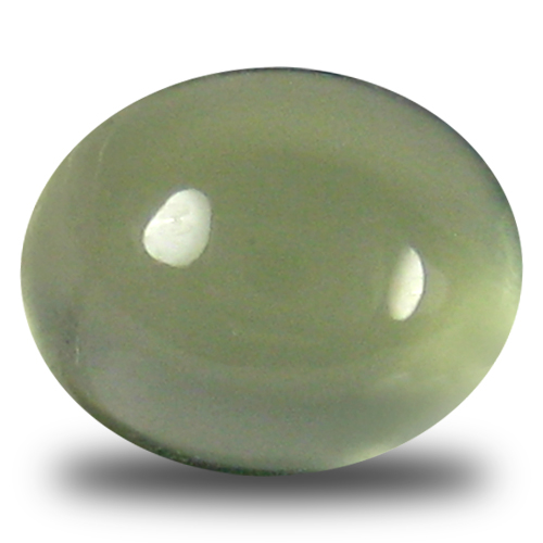 3.06 ct Magnificent fire Oval Cabochon Cut (9 x 7 mm) Un-Heated Green Prehnite Natural Gemstone