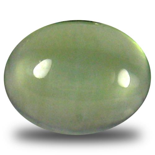 1.48 ct Marvelous Oval Cabochon Cut (9 x 7 mm) Un-Heated Green Prehnite Natural Gemstone