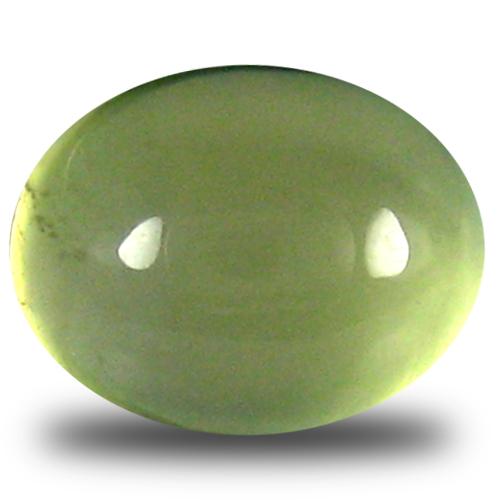 3.38 ct Beautiful Oval Cabochon Cut (9 x 7 mm) Un-Heated Green Prehnite Natural Gemstone
