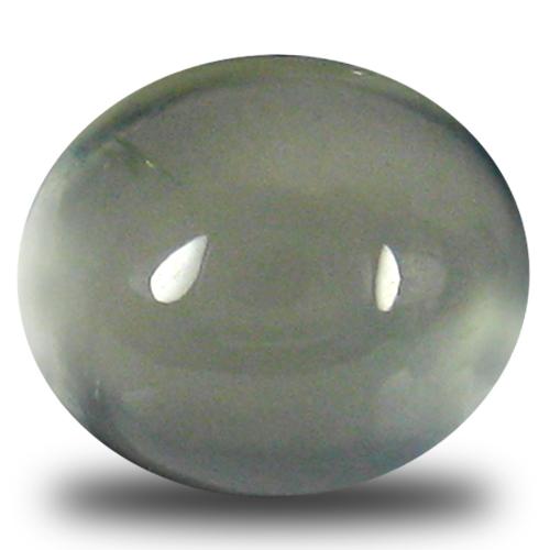 3.01 ct Topnotch Oval Cabochon Cut (9 x 8 mm) Un-Heated Green Prehnite Natural Gemstone